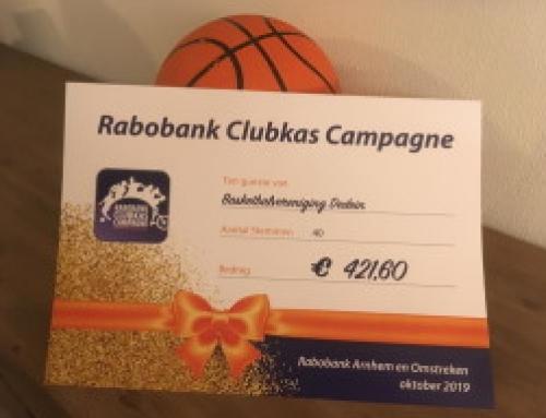 Bedankt voor jullie stemmen bij de clubkas campagne