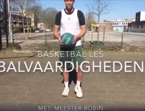 Basketbal les met meester Robin